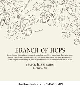 Hop. Vector illustration.