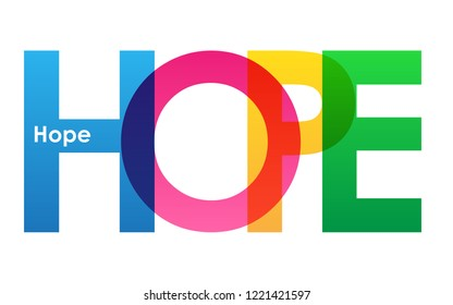 HOPE colorful letters banner