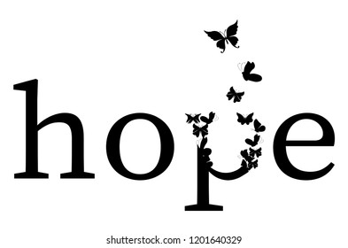 Hope Vector / Hope Typography / Motivational word