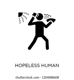 hopeless human icon. hopeless human symbol design from Feelings collection. Simple element vector illustration on white background.