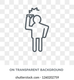 hopeless human icon. Trendy flat vector hopeless human icon on transparent background from Feelings collection. High quality filled hopeless human symbol use for web and mobile