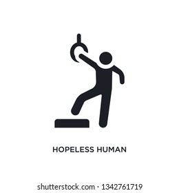 hopeless human isolated icon. simple element illustration from feelings concept icons. hopeless human editable logo sign symbol design on white background. can be use for web and mobile