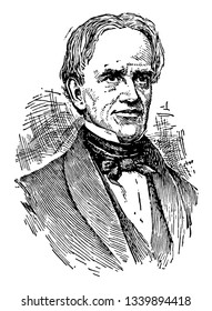Horace Mann 1796 to 1859 he was an American educational reformer and Whig politician dedicated to promoting public education vintage line drawing or engraving illustration