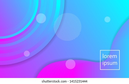 Horisontal modern wave fluid background template with gradient blue, pink, purple gradation for promotional. Suitable for comercials internet web banner, flyer,poster and brochure.