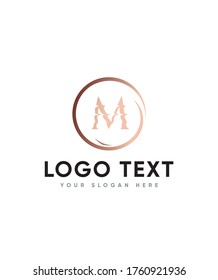 Horizon funny letter type M logo template, Vector logo for business and company identity