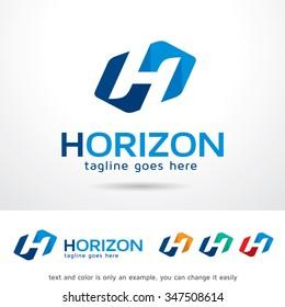 Horizon Letter H Logo Template Design Vector