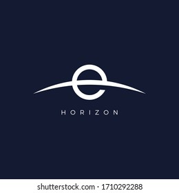 Horizon logo icon vector illistration. Eps10.