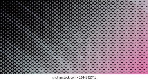 Horizontal abstract background with spotted halftone effect. Dots pattern.