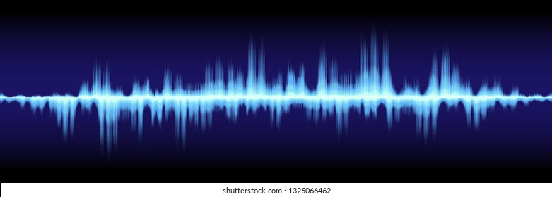 horizontal abstract sound wave design for pattern and background.