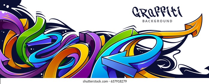 Street Background Graffity Stock Vectors Images Vector