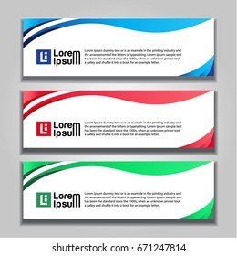 horizontal banner design abstract background templates