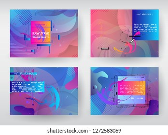 Horizontal banners set with abstract colorful background. Vector design layout for business presentations, flyers, posters and invitations - Abstract Vector Shapes