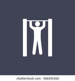 Horizontal bar and man icon