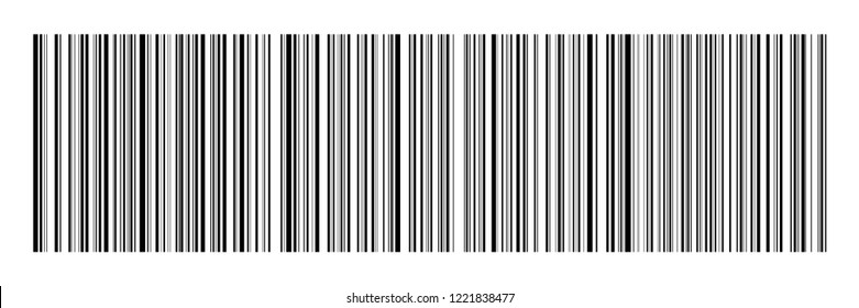 horizontal black barcode on white for pattern,background and design,vector illustration.