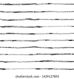 Horizontal black lines strokes, with chalk texture. Outlines not uniform. Parallel lines