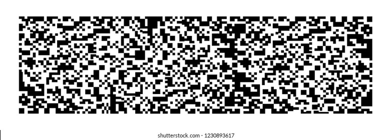 horizontal black qr code on white for pattern and background,vector illustration.