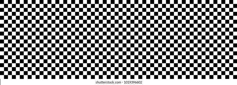 horizontal black and white checked sport or racing flag for background and design.