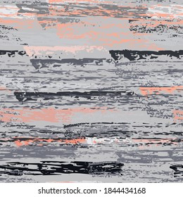 Horizontal  Brush Stroke Surface. Pinstripe Endless Repeating Elements. Chalk Print. Summer Pink and Gray Backdrop. Abstract Charcoal Surface. Brush Vector Background.