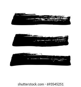 horizontal brush strokes