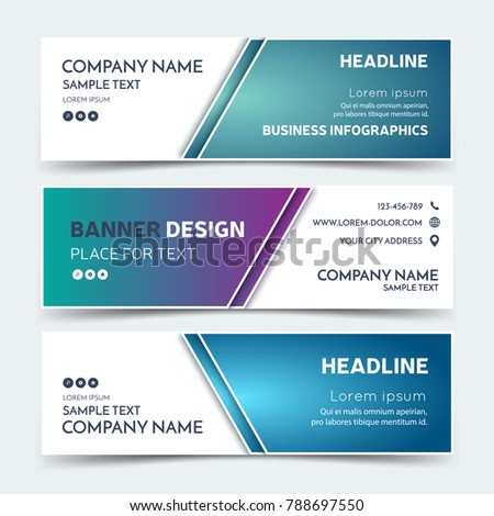 Horizontal business banner templates vector corporate stock vector horizontal business banner templates vector corporate stock vector 788697550 shutterstock wajeb