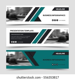 Horizontal business web banner templates. Vector corporate identity design, technology background layout, eps10.
