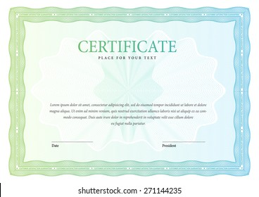 horizontal Certificate and diplomas ?emplate. Vector