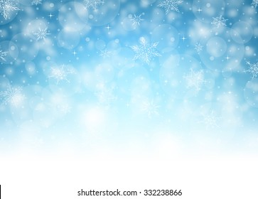 Horizontal Christmas Background - Illustration Vector illustration of Christmas Background