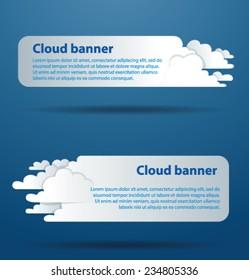Horizontal Cloud Banners, vector