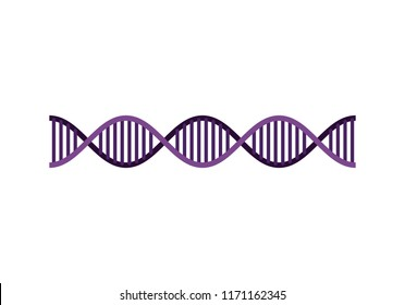 horizontal dna chain science colorful icon