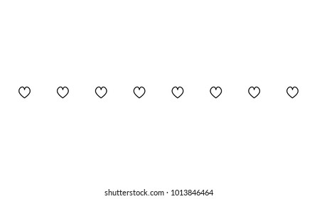 Horizontal Dot Line Simple Shape Vector Symbol Icon Design. Illustration of  dotted  line divider isolated on white background.