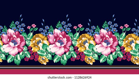 horizontal flower border
