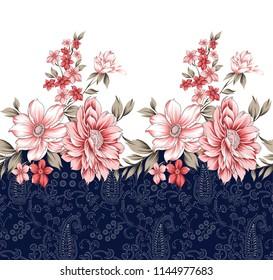 horizontal flower border