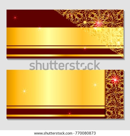 a horizontal gift design background for an invitation a voucher for a banner