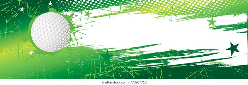 Horizontal golf banner.Vector illustration.