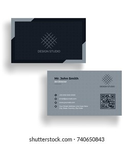 Horizontal illustration of Business card in both side.
