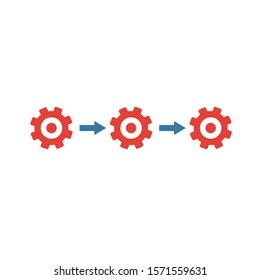 Horizontal Integration icon. Colored creative element from industry 4.0 collection.