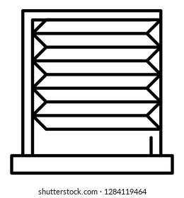 Horizontal jalousie roller icon. Outline horizontal jalousie roller vector icon for web design isolated on white background