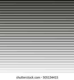 Horizontal lines. Design element. Vector illustration. Line halftone pattern with gradient effect. Template for backgrounds and stylized textures.