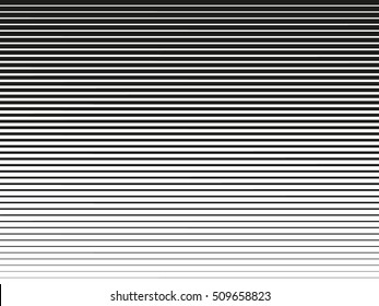 Horizontal lines. Design halftone element. Vector illustration. Line halftone pattern with gradient effect. Template for backgrounds and stylized textures.