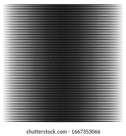 Horizontal lines geometric element. Straight parallel lines, stripes. Horizontal streaks, strips pattern. Linear, lineal monochrome, black and white geometric design element