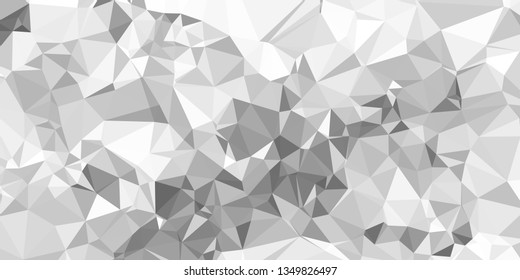Horizontal mosaic banner. Design element for websites and books headers. Low polygonal texture.