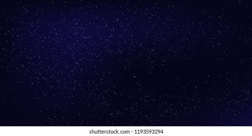 Horizontal night sky background. Vector abstract background.