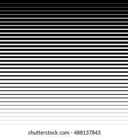Horizontal parallel black stripes on a white background.  Vector illustration EPS10. Halftone gradient lines.