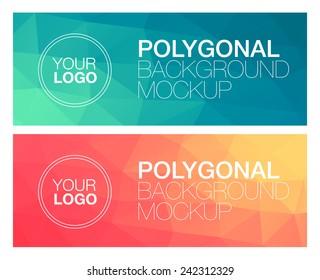 Horizontal polygonal banners