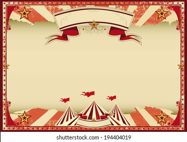 Horizontal Red Circus Retro A Vintage Background For Poster
