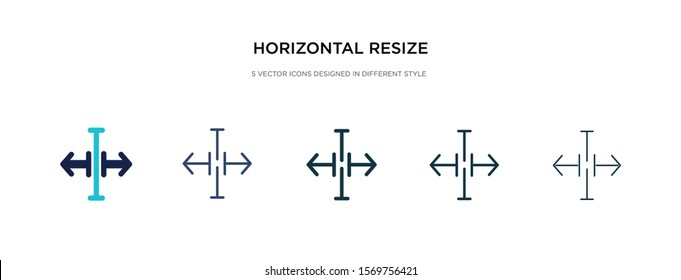 horizontal resize icon in different style vector illustration. two colored and black horizontal resize vector icons designed in filled, outline, line and stroke style can be used for web, mobile, ui