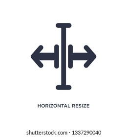 horizontal resize isolated icon. Simple element illustration from arrows concept. horizontal resize editable logo symbol design on white background. Can be use for web and mobile.