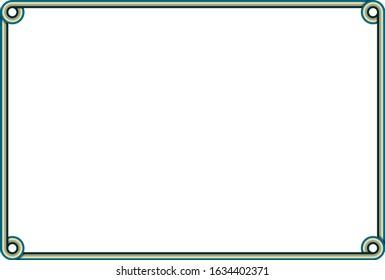 Horizontal Retro Frame Vector Illustration