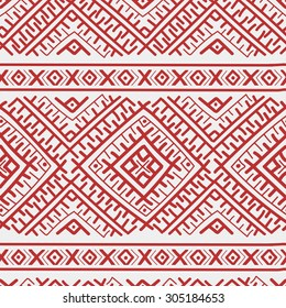 Horizontal Russian traditional seamless pattern
