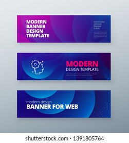 Horizontal sale banner background for social networks. Colorful halftone gradients.background modern template design for web. Cool gradients. Future geometric patterns.